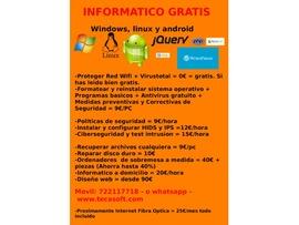 Informatico gratis, diseño web, servidores, vps, tiendas informatica