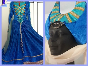 Vestido de fantasía medieval